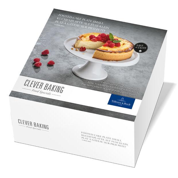 Clever Baking Plat à gâteau sur pied petit 22,5x22,5x11,5cm, , large