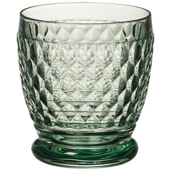 Boston Colored Double Old-Fashioned Glass, Green