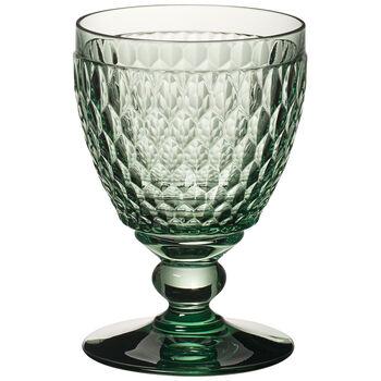 Boston Colored Goblet, Green 14 oz