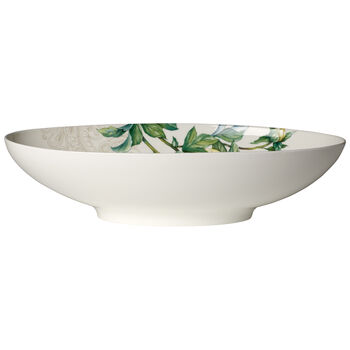 Quinsai Garden Oval Vegetable Bowl 15x8.5 in