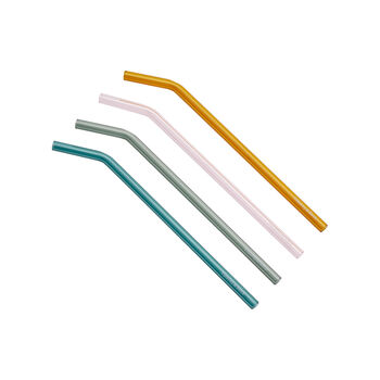 Artesano Hot Beverages 4 Glass Straws