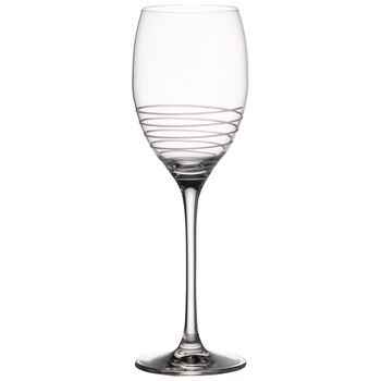 Maxima Decorated White Wine Glass, Spiral 9 1/2 in