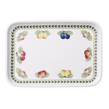 French Garden Baking Rectangular Serving Plate/Lid 12.5x8.5in