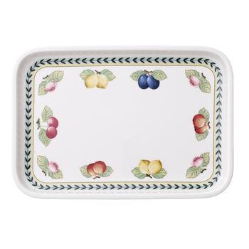 French Garden plats à gratin Plat à servir / Couvercle rectangulaire 32x22cm