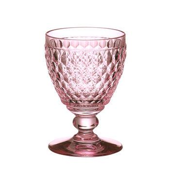 Boston Colored Goblet-Rose : Set of 4 14 oz