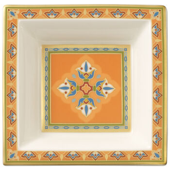 Samarkand Mandarin Square Bowl 4 x 4 in