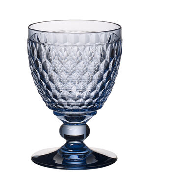 Boston Colored Claret Glass, Blue 11 oz