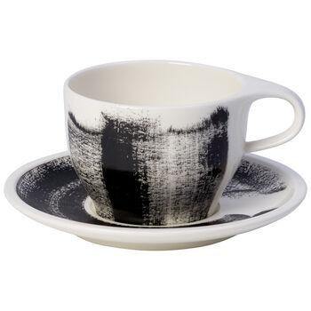 Coffee Passion Awake Cafe Au Lait Cup & Saucer Set 11.75 oz