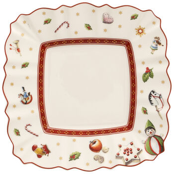 Toy's Delight Square Bread & Butter Plate 6.5x6.5 in