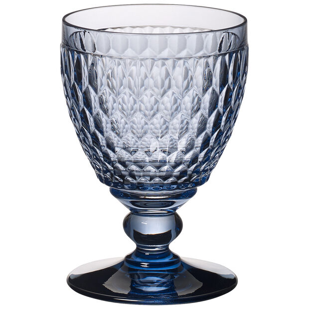 Boston coloured Set o.4 water goblet blue 144mm, , large