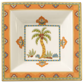 Samarkand Mandarin Square Bowl 5 1/2 in