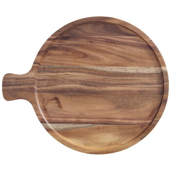 Artesano Original Acacia Antipasti Round Plate 11 in