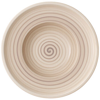 Artesano Nature Beige Rim Soup 9.75 in
