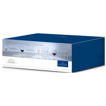 Maxima 24 Piece Crystal Glass Wine Set
