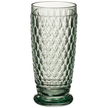 Boston Colored Highball Glass, Green 6 1/4 in