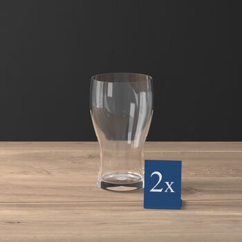 Purismo Beer Pint Glass, Set of 2