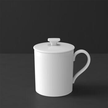 MetroChic Blanc Gifts Mug with Lid
