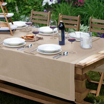 """La Classica Oblong Tablecloth: Natural, 70x126"""""""