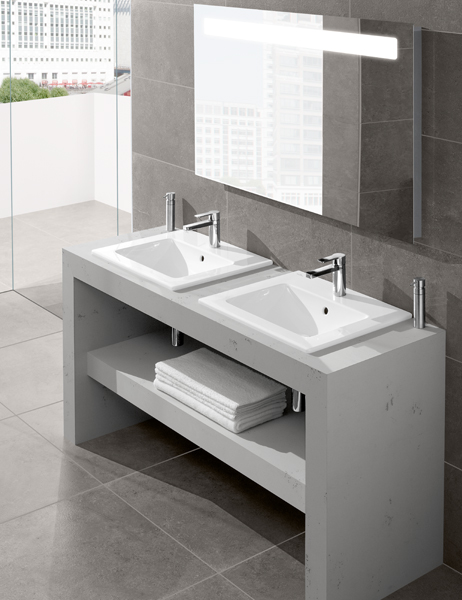 Venticello collection by villeroy boch linear bathroom design for Waschtisch villeroy und boch
